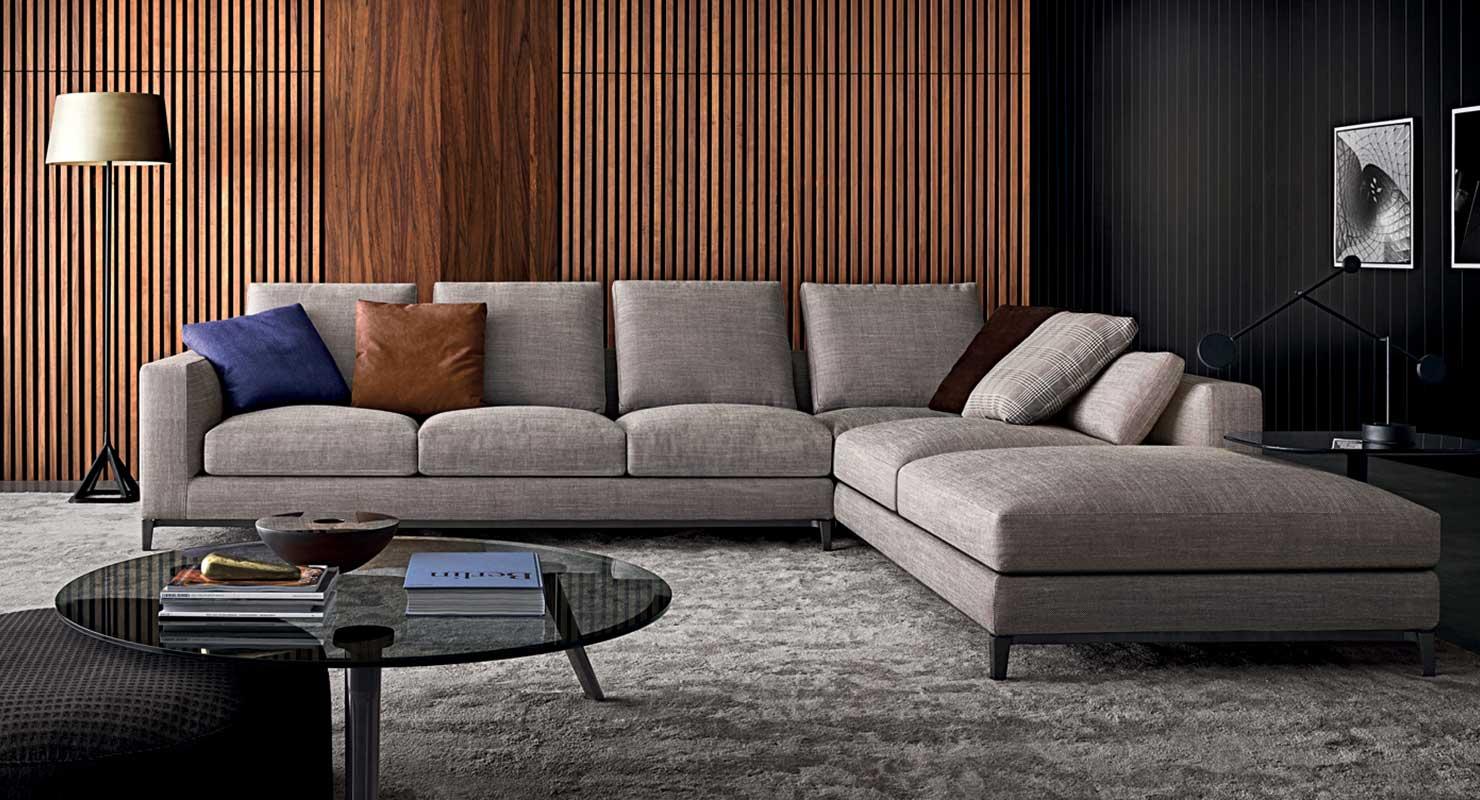 Moderne Leren Design Bank.Italiaanse Design Leren Bank