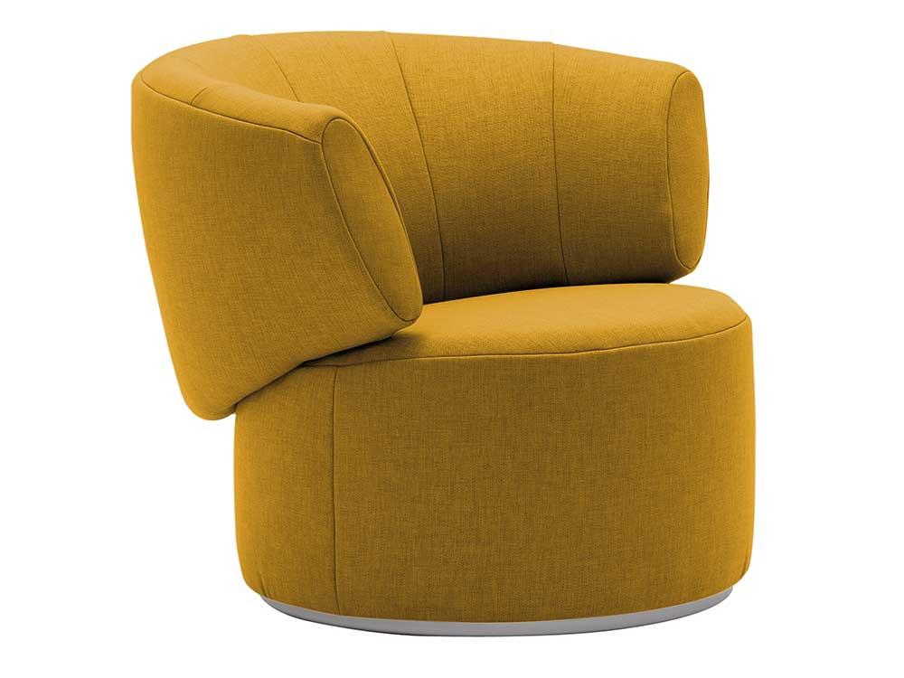 Rolf-Benz-684-fauteuil-geel-stof