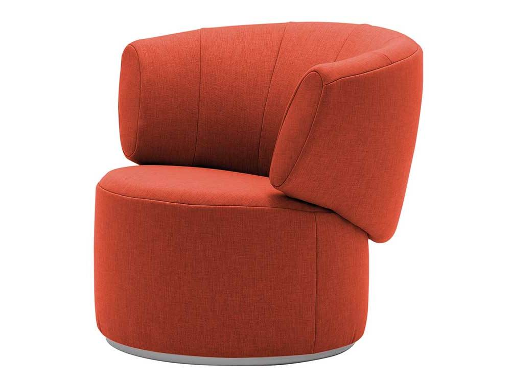Rolf-Benz-684-fauteuil-rood-stof