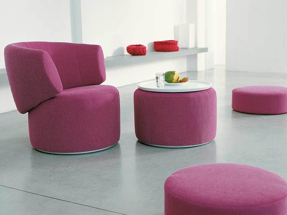Rolf-Benz-684-fauteuil-roze-stof