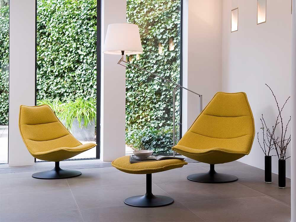 Artifort-fauteuil-510-511-stof-geel-sfeer-3