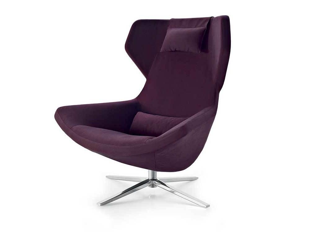 B&BItalia-metropolitan-fauteuil-hoog-stof-paars 2