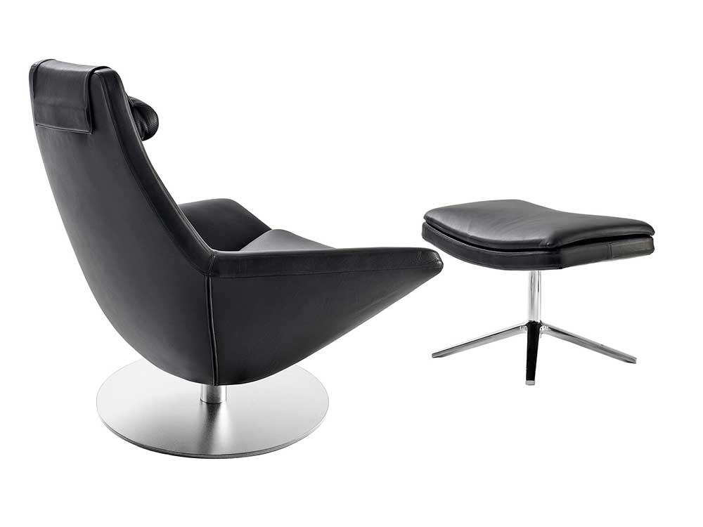B&BItalia-metropolitan-fauteuil-leer-zwart-2