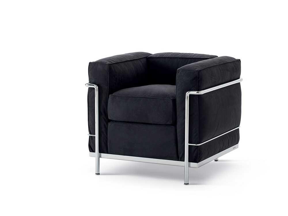 Cassina-LC2-fauteuil-leder-zwart
