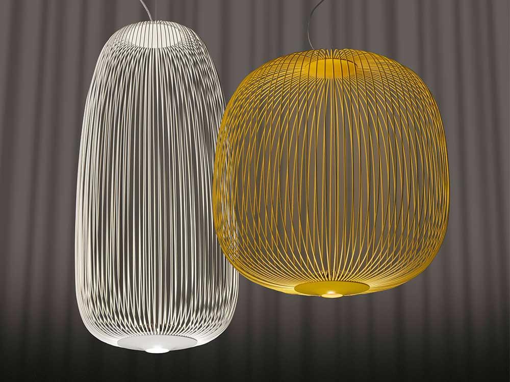 Foscarini-Spokes 1-Hanglamp-Zwart-Geel-0