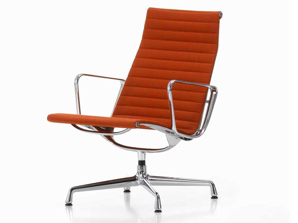 Vitra-Aluminium-Chair-fauteuil-stof-oranje-2