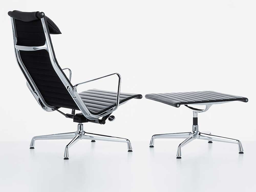 Vitra-Aluminium-Chair-fauteuil-stof-zwart