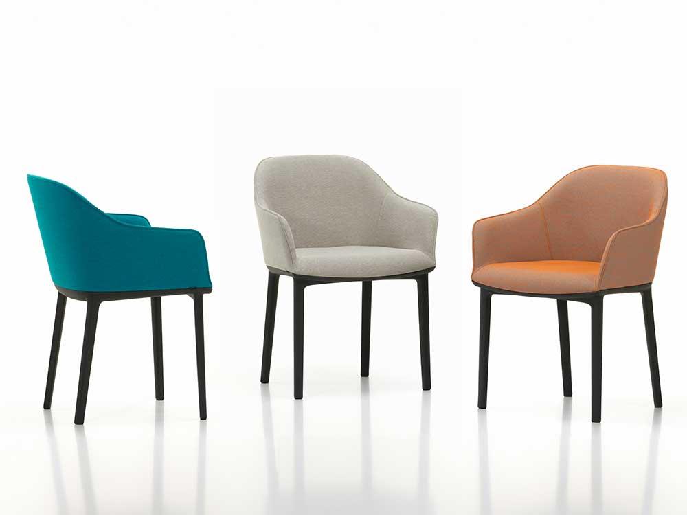 Vitra-Softshell-Chair-eetkamerstoel-blauw-wit-oranje-stof
