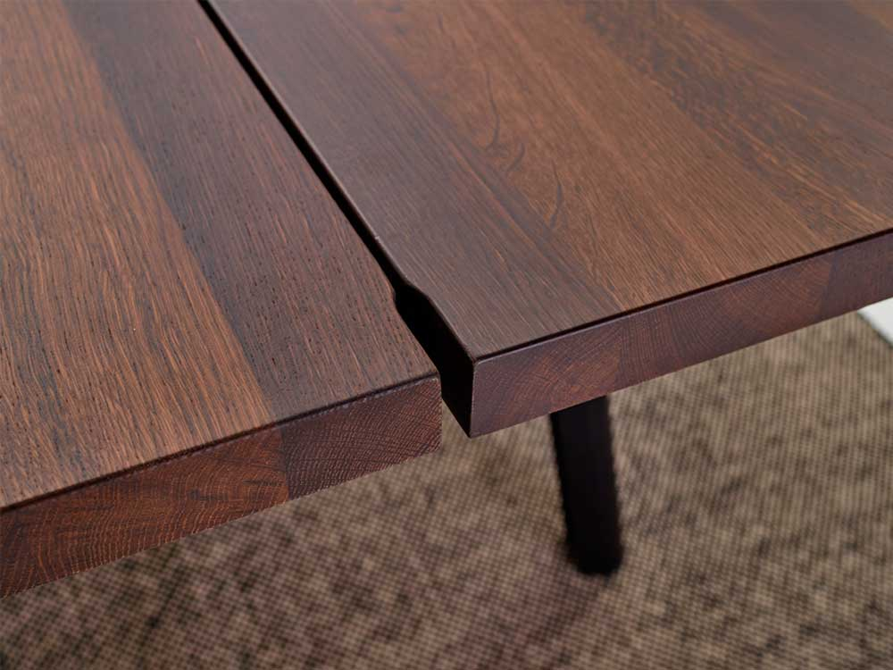 arco-trestle-eetkamertafel-bruin-hout-detail