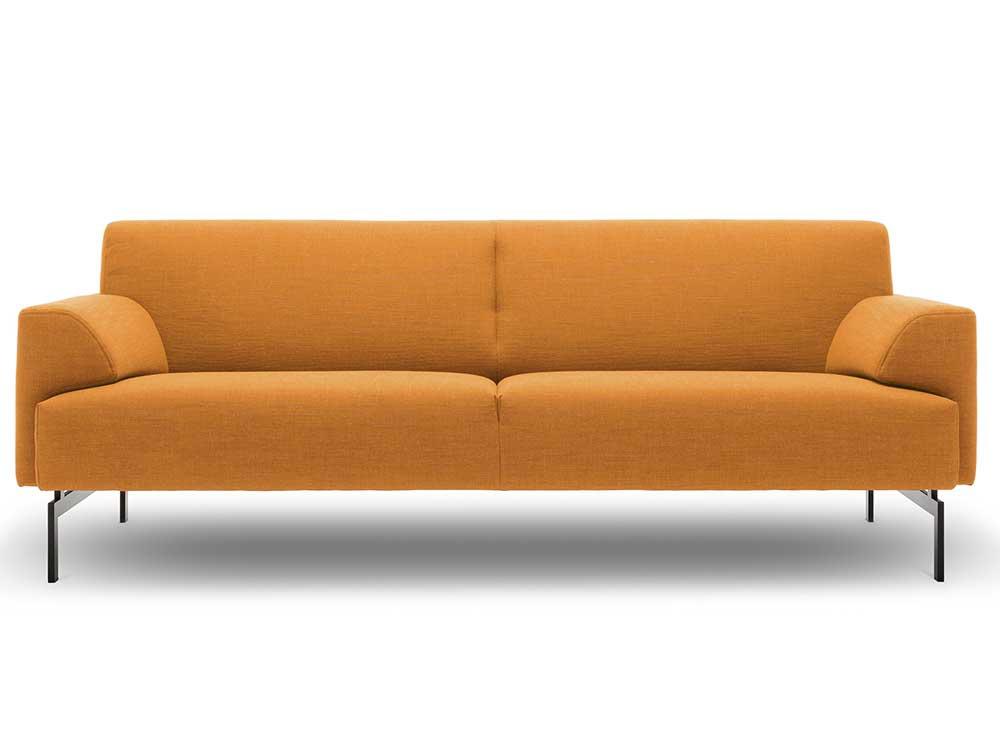 rolf-benz-bank-oranje-stof