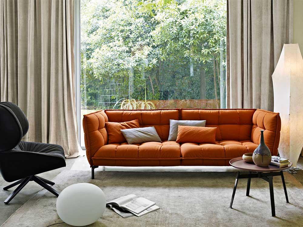 Design Bank Oranje.B B Italia Husk Bank Cilo Interieur