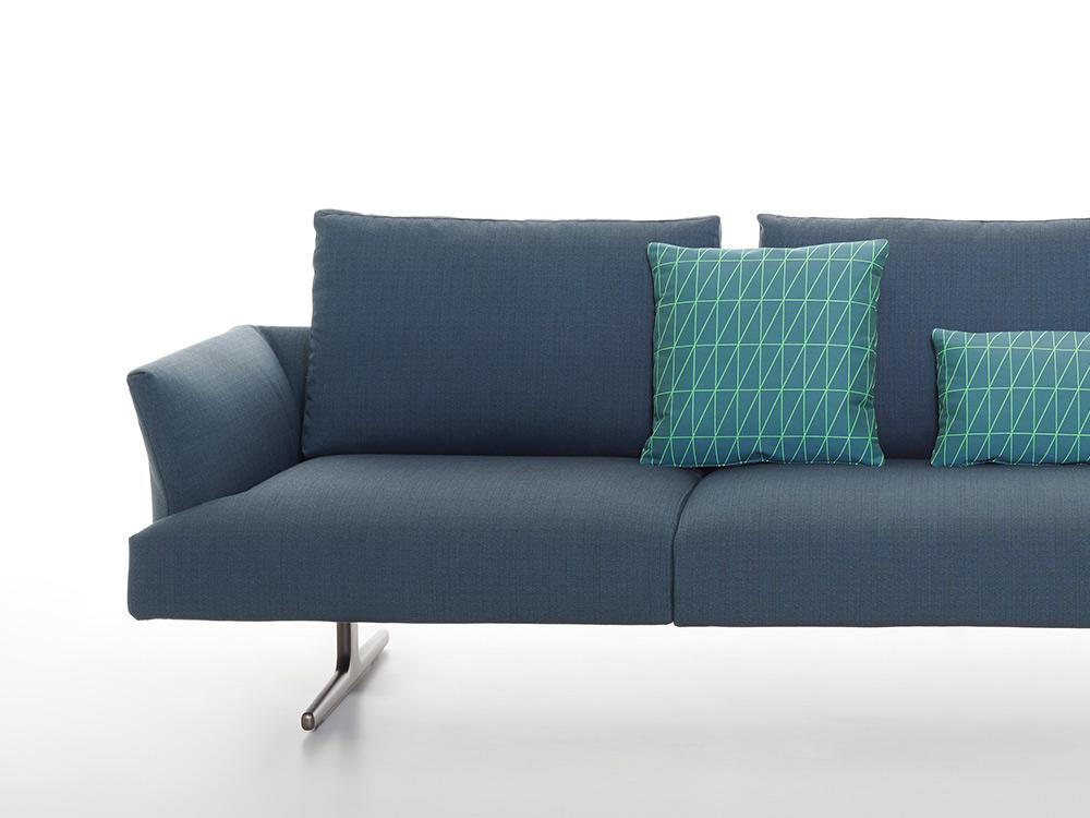 zanotta-hiro-bank-blauw-stof-detail