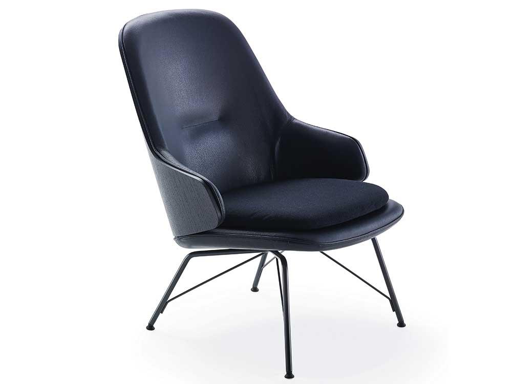zanotta-judy-fauteuil-blauw-stof