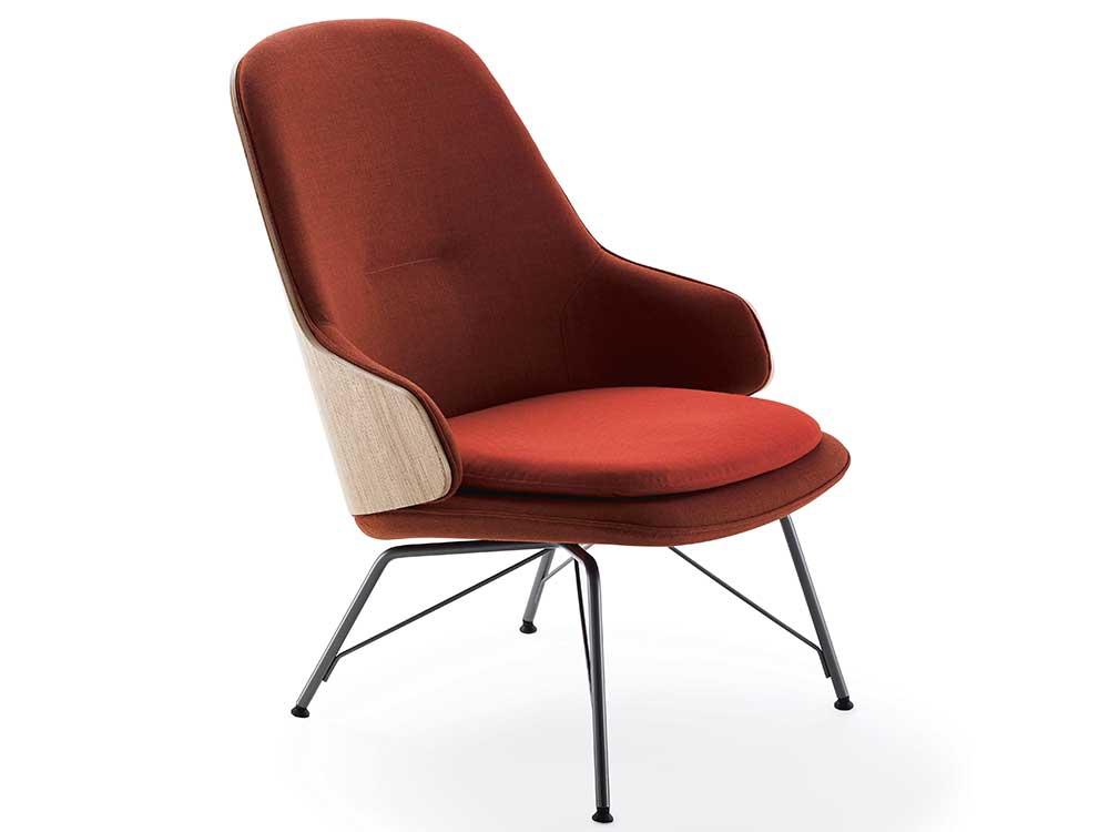 zanotta-judy-fauteuil-rood-stof