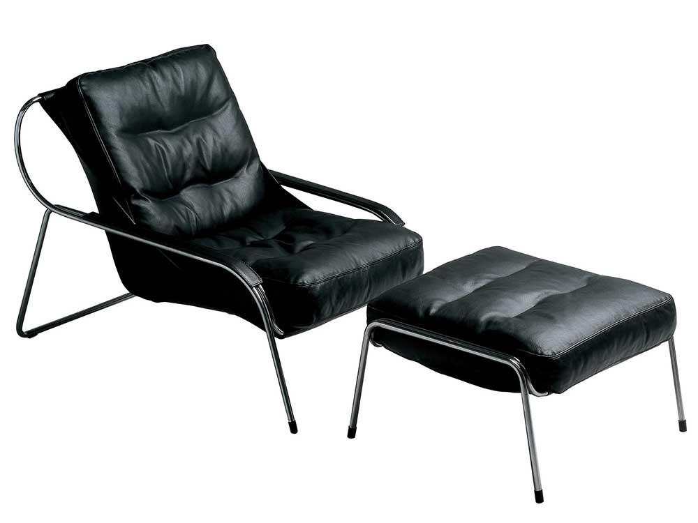 zanotta-maggiolina-lounge-chair-zwart-leer