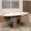 Castelijn-Circlips-eettafel-hout-ovalen-onderstel