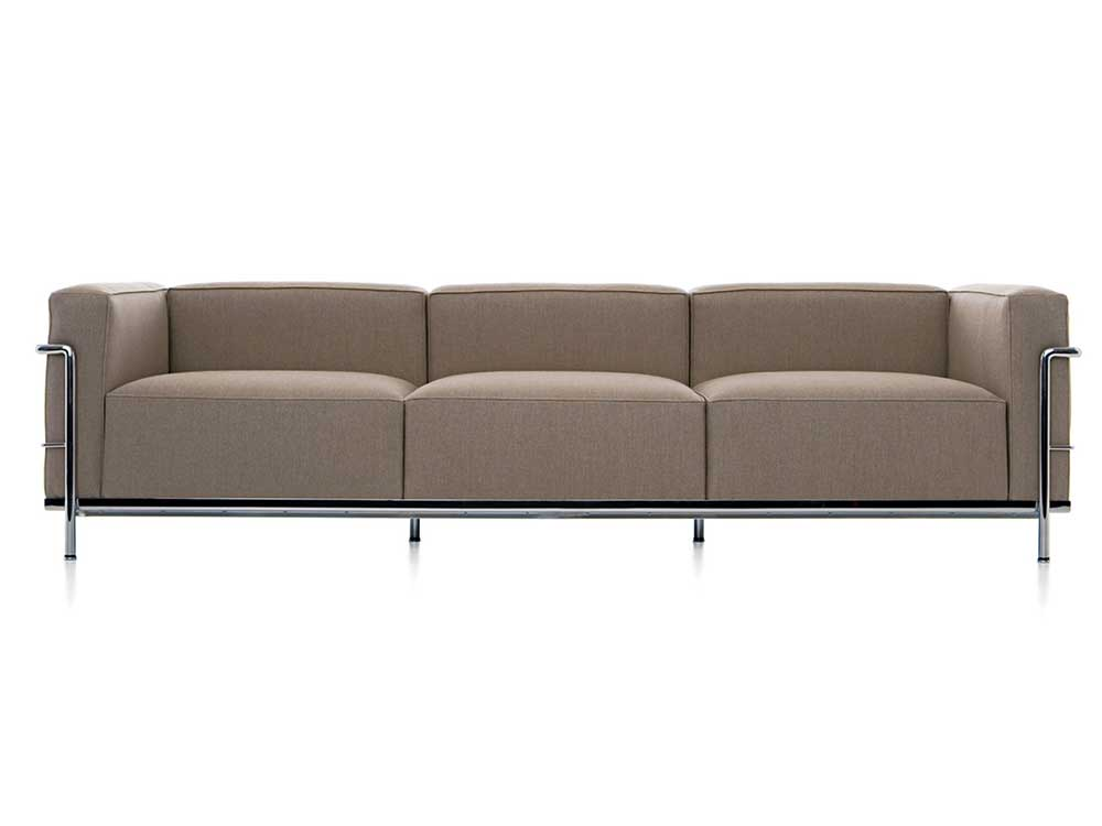 cassina-lc3-bank-bruin-stof