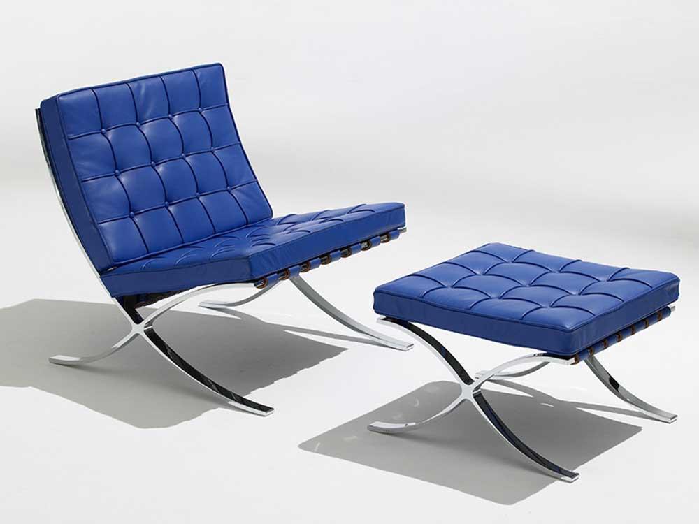 knoll-studio-barcelona-fauteuil-blauw-leer