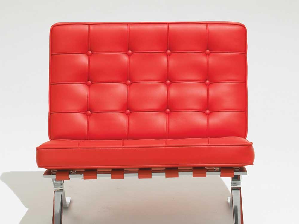 knoll-studio-barcelona-fauteuil-rood-leer