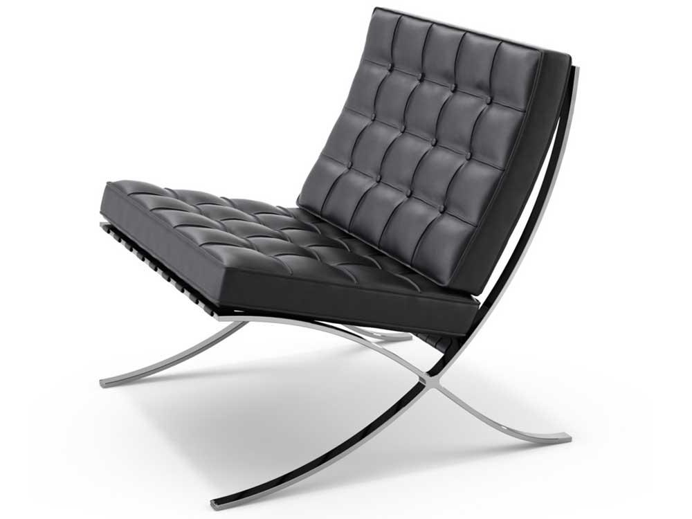 knoll-studio-barcelona-fauteuil-zwart-leer