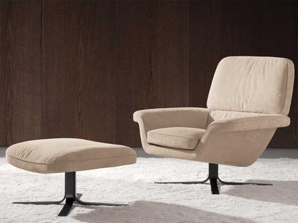 minotti-blake-fauteuil-wit-stof