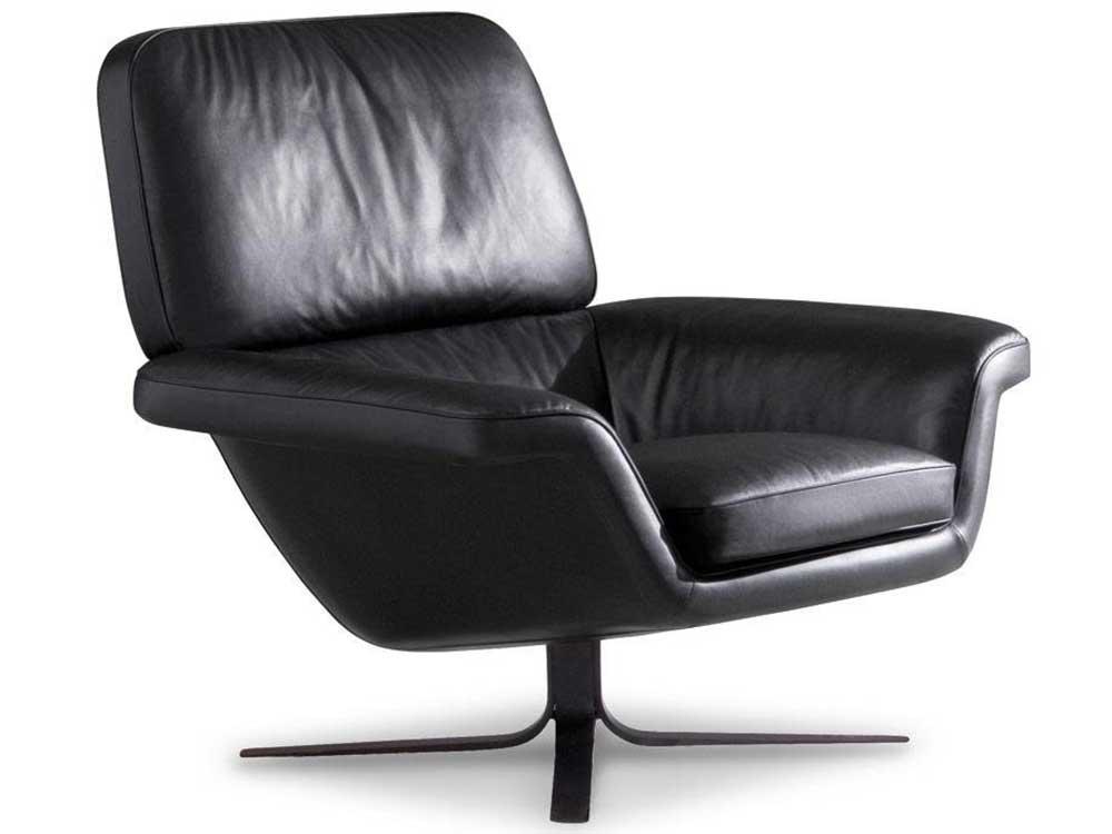 minotti-blake-fauteuil-zwart-leer