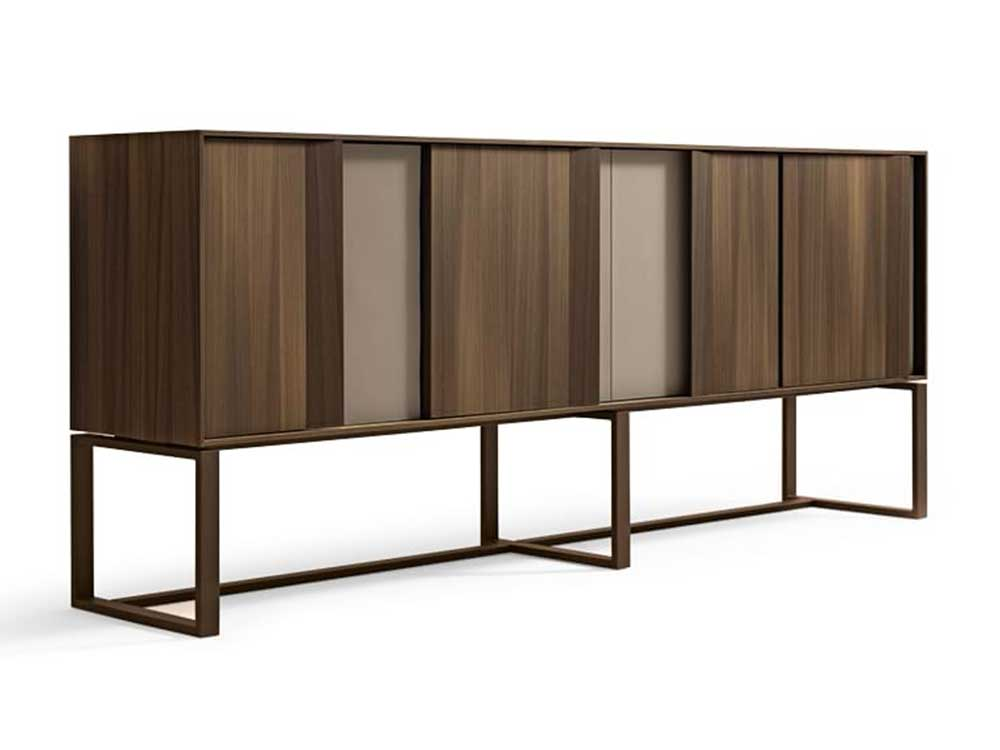 Giorgetti-Origami-sideboard-hout-bruin