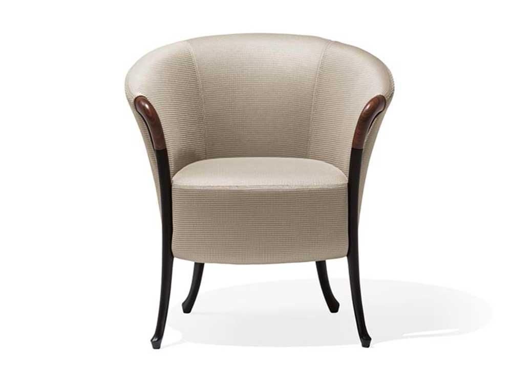 Giorgetti-Progetti-fauteuil-beige-stof