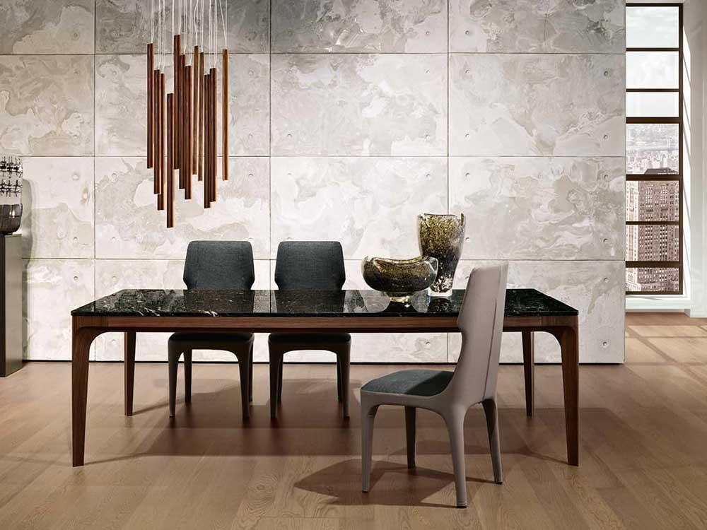 Giorgetti-tiche-stoel-hoog-beige-leer-stof-grijs