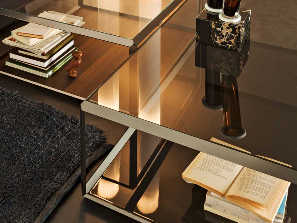 Molteni-45-salontafel-zwart-glas