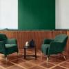 Molteni-Gio-Ponti-fauteuil-D-151-4-stof-groen