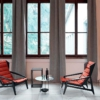 Molteni-Gio-Ponti-fauteuil-D-156-3-stof-rood