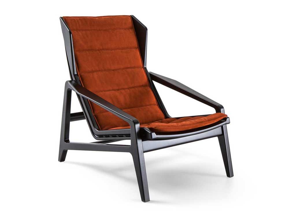 Molteni-Gio-Ponti-fauteuil-D-156.3-stof-oranje