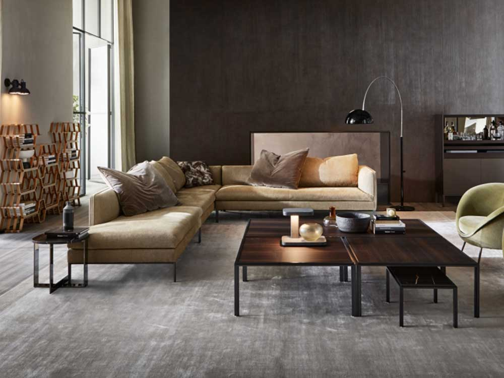 Molteni-Paul-sofa-geel-velours