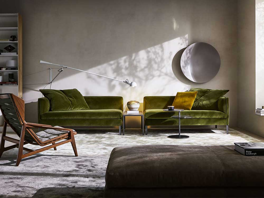 Molteni-Paul-sofa-groen-velours