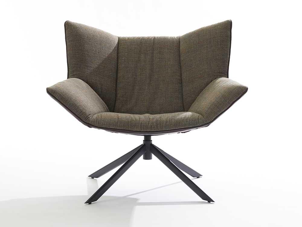 Label-Gustav-fauteuil-leder-bruin-stof-groen-4