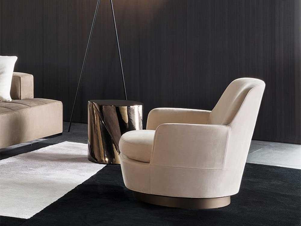 Minotti-Jacques-fauteuil-stof-creme