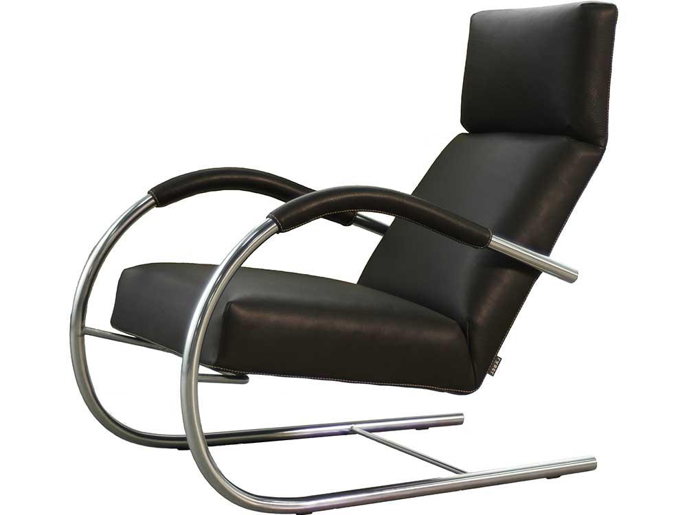 Speedster-fauteuil-leer-zwart