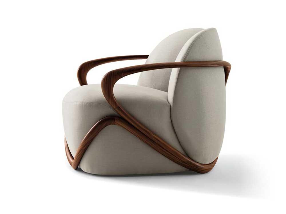 Giorgetti-hug-fauteuil-stof-beige