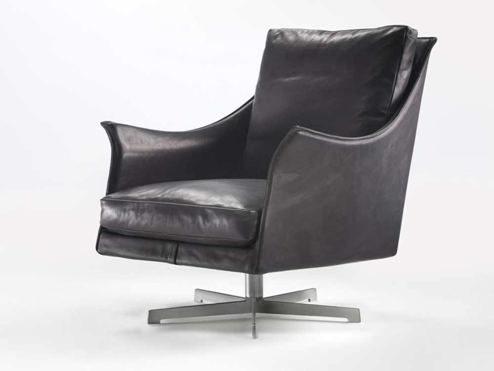 Flexform-Boss-fauteuil-leer-donker-bruin-6