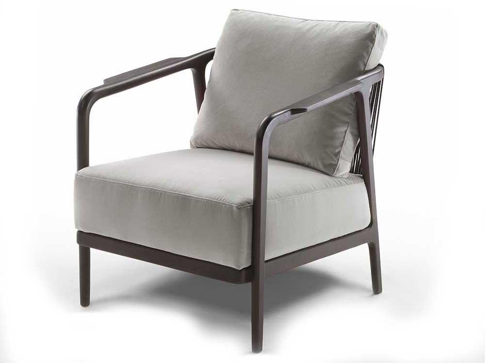 Flexform-Crono-fauteuil-bruin-hout-grijs-stof-v