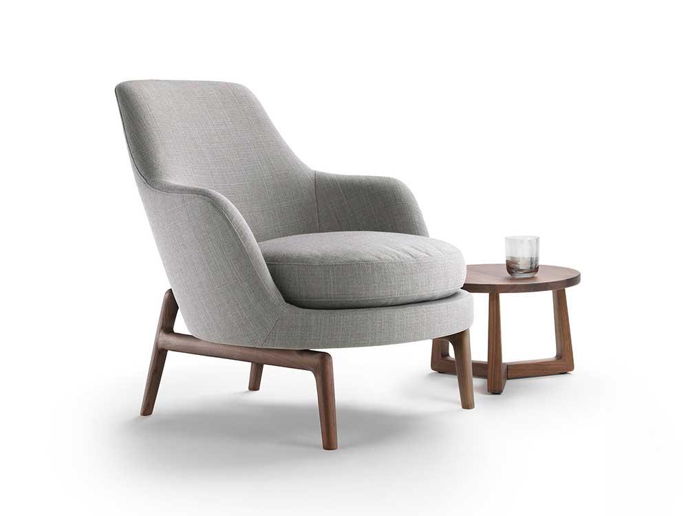 Flexform-Leda-fauteuil-stof-grijs-8