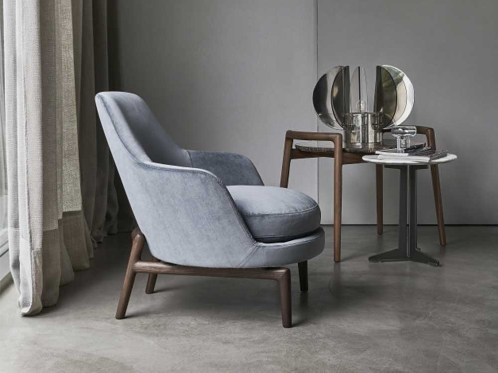 Flexform-Leda-fauteuil-stof-grijs-sfeer