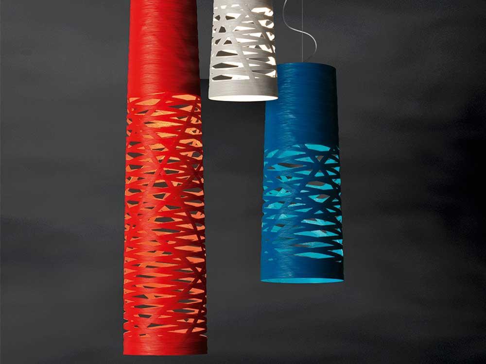 Foscarini-Tress-hanglamp-rood-blauw-wit