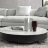 Minotti-Milton-salontafel-rond-zwart-wit