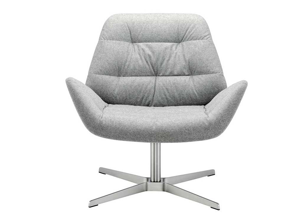Thonet-809-fauteuil-stof-grijs-2