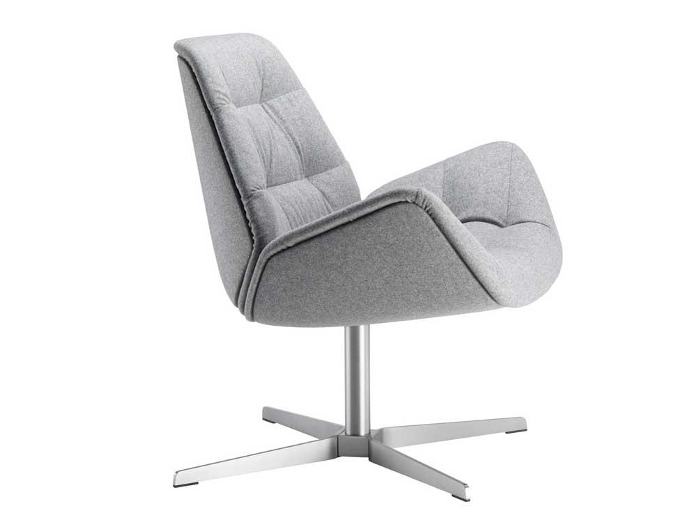 Thonet-809-fauteuil-stof-grijs