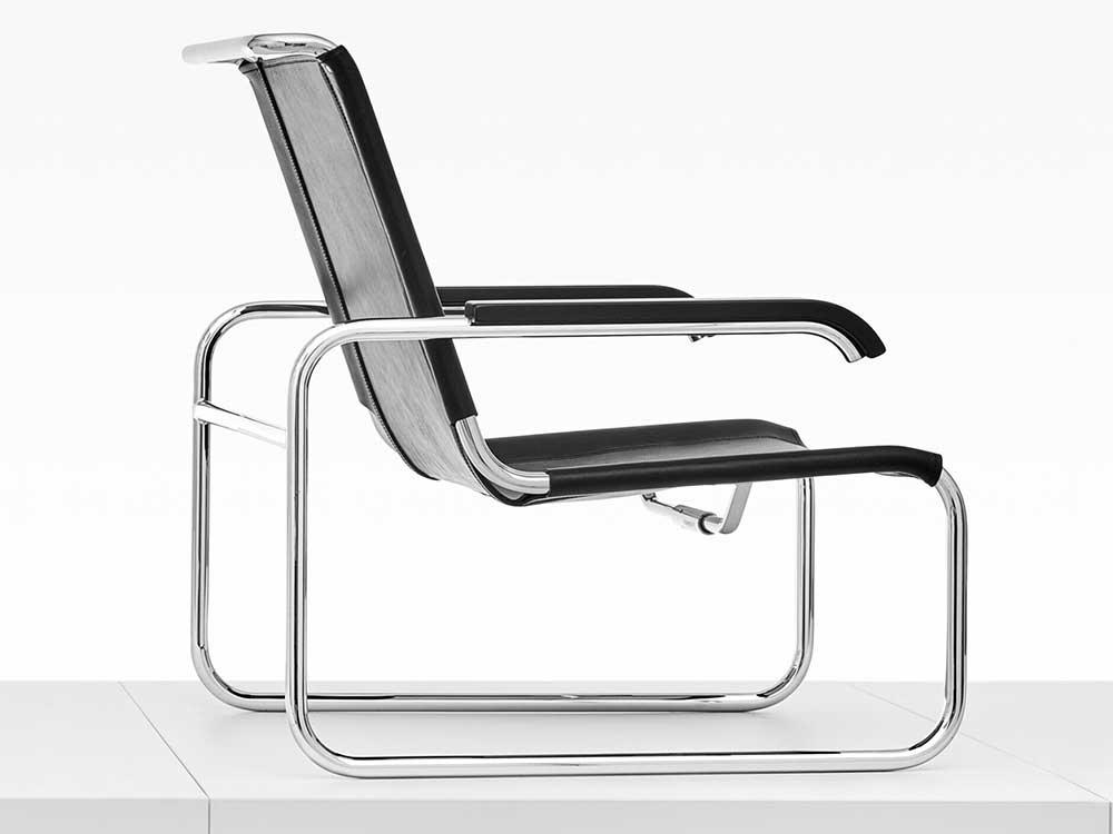 Thonet-S-35L-fauteuil-leer-zwart-2