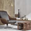Flexform-Sveva-fauteuil-bruin-grijs