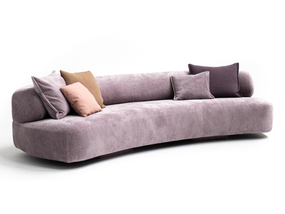 moroso-gogan-bank-roze-paars-stof-leer